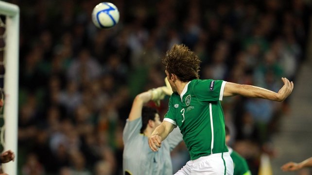 Kevin Kilbane leapt highest to put Ireland on the way to a win over Andorra in the Aviva