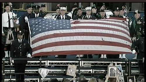 New York - Ninth anniversary remembered at Ground Zero
