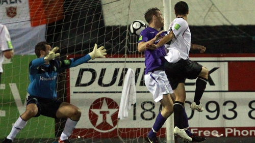 Matthew Tipton headed home Dundalk's opener after three minutes