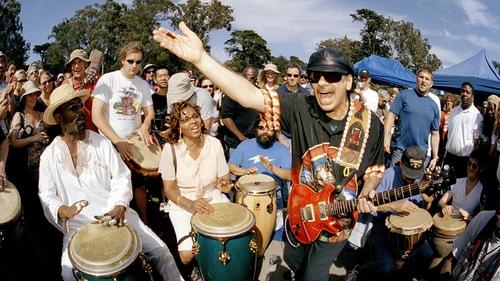 Carlos Santana in full flight