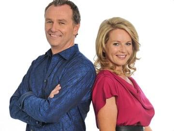 Dáithí O Sé and Claire Byrne