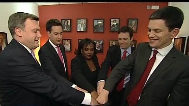 Contenders - (From left) Ed Balls, Ed Miliband, Diane Abbott, Andy Burnham and David Miliband