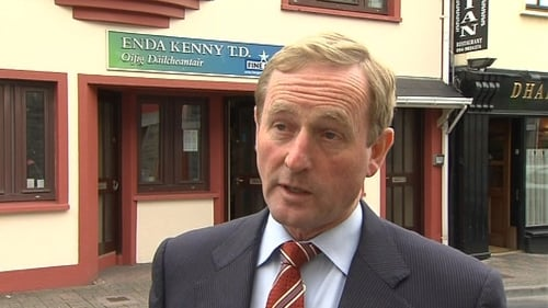 Enda Kenny - Fall in support for Fine Gael