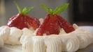Meringues with a Ricotta Cream and Balsamic Strawberries