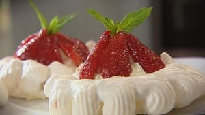 Catherine Fulvio's Meringues with a Ricotta Cream and Balsamic Strawberries