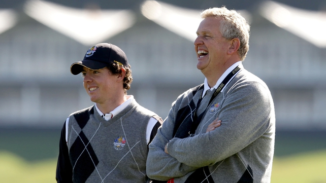 Colin Montgomerie led the European team to victory at Celtic Manor in 2010