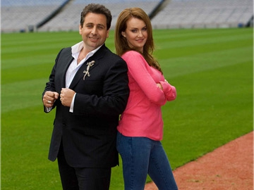 Celebrity Bainisteoir - Peter Kelly with Mairead Farrell