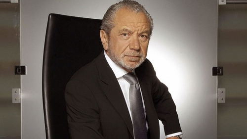 Alan Sugar - has 2.5m Twitter followers apparently