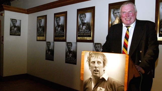 Moss Keane pictured in Lansdowne Rugby club at the launch of his autobiography - Rucks, Mauls & Gaelic Football - in 2005