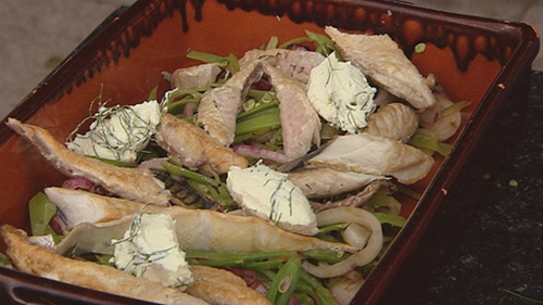 Richard Corrigan's Tea-Smoked Dingle Mackerel with a Warm Green Salad and a Quark Cheese
