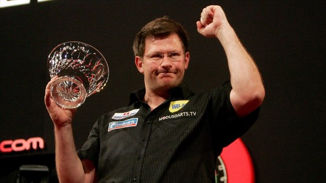 James Wade with the trophy