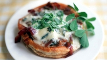 Spinach, Sorrel and Gruyere tart