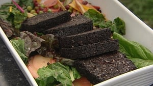 Richard Corrigan's Chard Stir-Fry with Black Pudding
