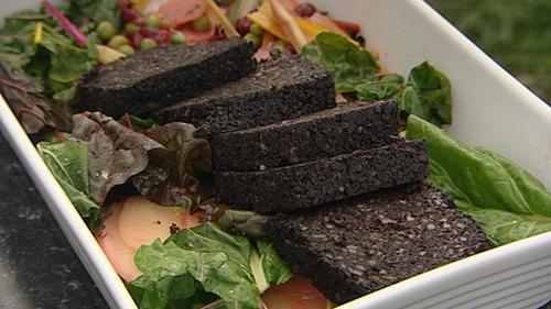Richard Corrigan's Chard Stir-Fry with Black Pudding