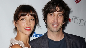 David Schwimmer (here with his wife, Zoe Buckman) is making a TV comeback