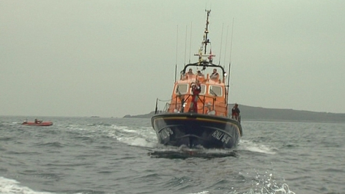The RNLI assisted in the towing of the craft