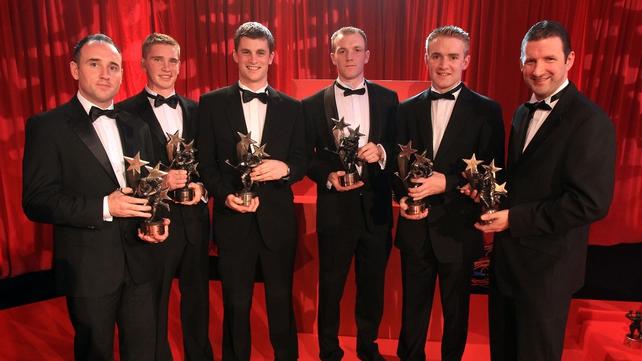The Tipperary All Stars: Eoin Kelly, Brendan Maher, Paul Curran, Lar Corbett, Noel McGrath and Brendan Cummins