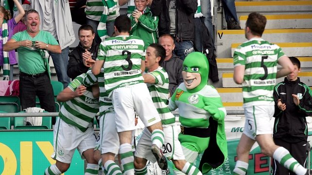 Chris Turner put Shamrock Rovers ahead but St Pat's fought back to force a replay