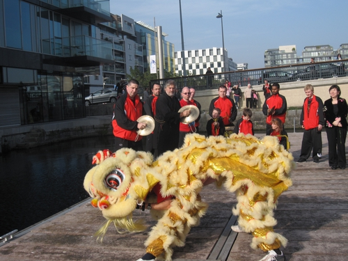 Lion Dance at the launch of the Plurabelle Paddlers.