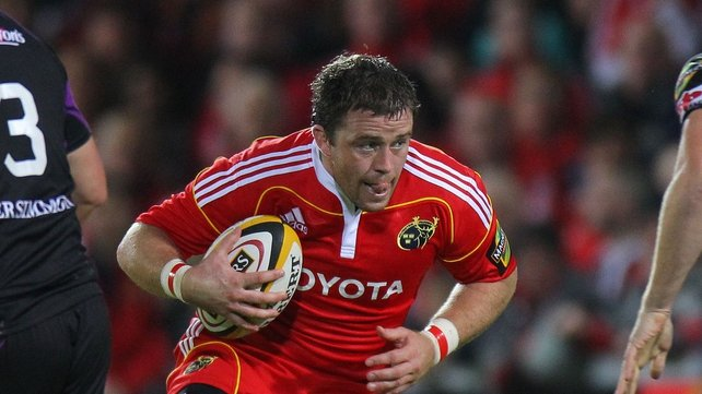Marcus Horan starts for Munster against Cardiff