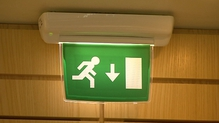 There were no fire exit signs and no emergency lighting in the kitchen and utility room