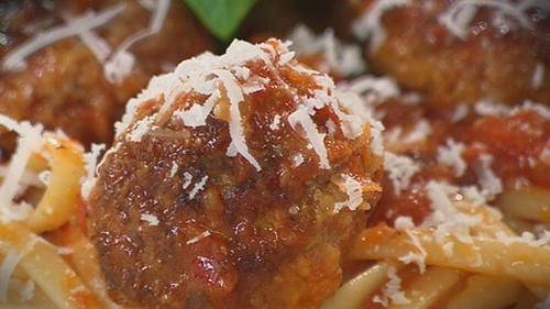 Catherine Fulvio's Meatballs in Spicy Tomato Sauce