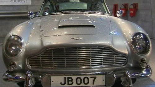 Aston Martin - Comes with machine guns, a bullet-proof shield and tracking device