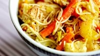 Healthy Singapore Noodles - Singapore noodles are a standard Chinese restaurant dish, but making them at home is so easy. It also means you can monitor what's going into them, adding whatever healthy vegetables you feel like.