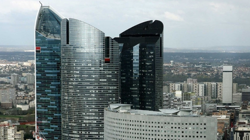 French bank's headquarters were searched last week