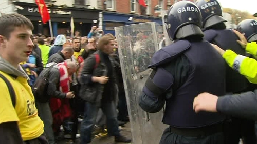 Student protest - Allegations that gardaí used excessive force