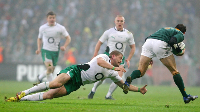 Ireland beat South Africa 15-10 in Croke Park in 2009