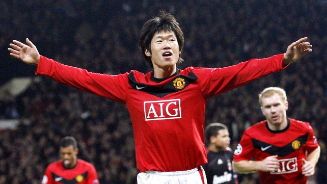 Park Ji-Sung played for Manchester United between 2005 and 2012
