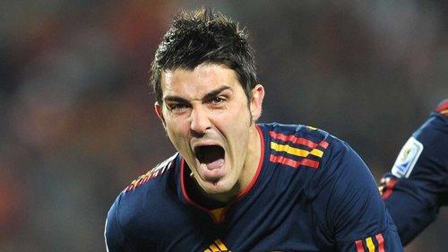 David Villa has been sidelined since breaking his leg against Al Sadd at the Club World Cup in December