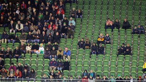 Last year's Autumn internationals drew poor crowds at the Aviva Stadium