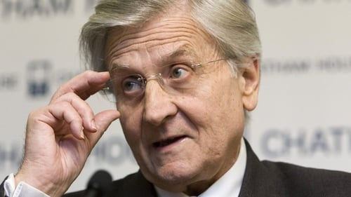 Former ECB chief Jean Claude Trichet before EU Committee on Economic and Monetary Affairs today