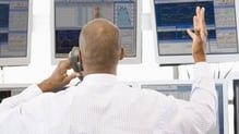 European shares lower again after yesterday's steep falls