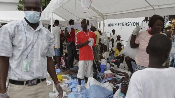 Haiti - Disease spreading in camps set up after earthquake