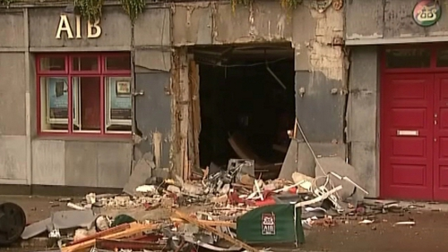 Castleisland - ATM removed from wall of bank