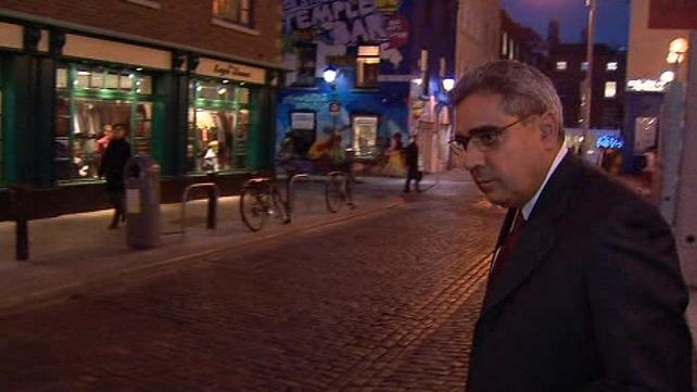 Dublin - Ajai Chopra leaving the Central Bank this evening