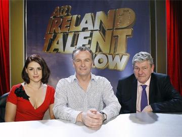 All IrelanMentor Sile Seoige, judge Dáithí O Sé and fellow mentor Padraic Breathnachd Talent Show