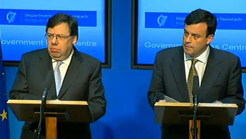 Government Statement - Taoiseach and Finance Minister confirm application for rescue package