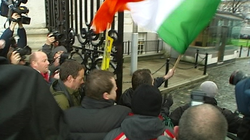 Protest - Mainly made up of Sinn Féin supporters
