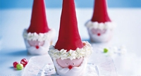 Little Santas - These fantastic little Santas are granted to bring a smile to your face. They're great fun to make and would be a welcome addition to any Christmas party!