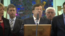 RTÉ.ie Extra Video: Brian Cowen statement from Govt Buildings