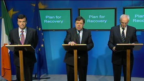 Lenihan, Cowen & Gormley - At four-year plan announcement