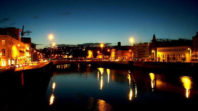 The beautiful Cork City at night