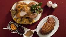 Traditional Roast Turkey with Cranberry Flavoured Gravy