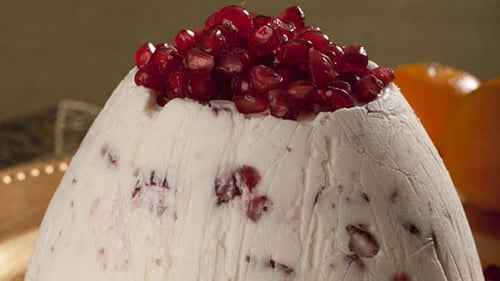 Christmas Bombe with Cranberry and Cointreau Sauce