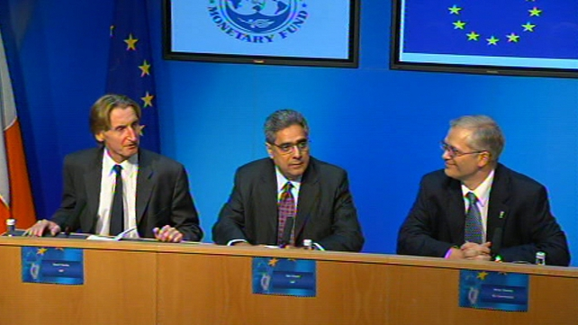 EC/IMF/ECB - News conference in Govt Buildings