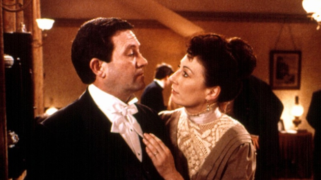 Anjelica Huston plays Mrs Conroy in The Dead, with the late Dónal McCann as her husband Gabriel.